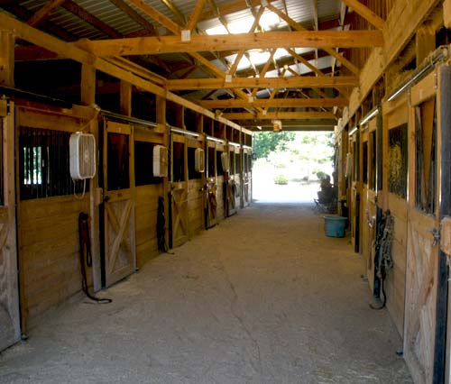 Lynnwood Equestrian Center Barn Interior
